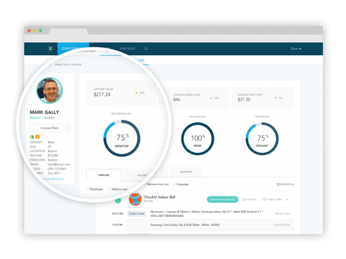 Zaius Demo - Customer Profile