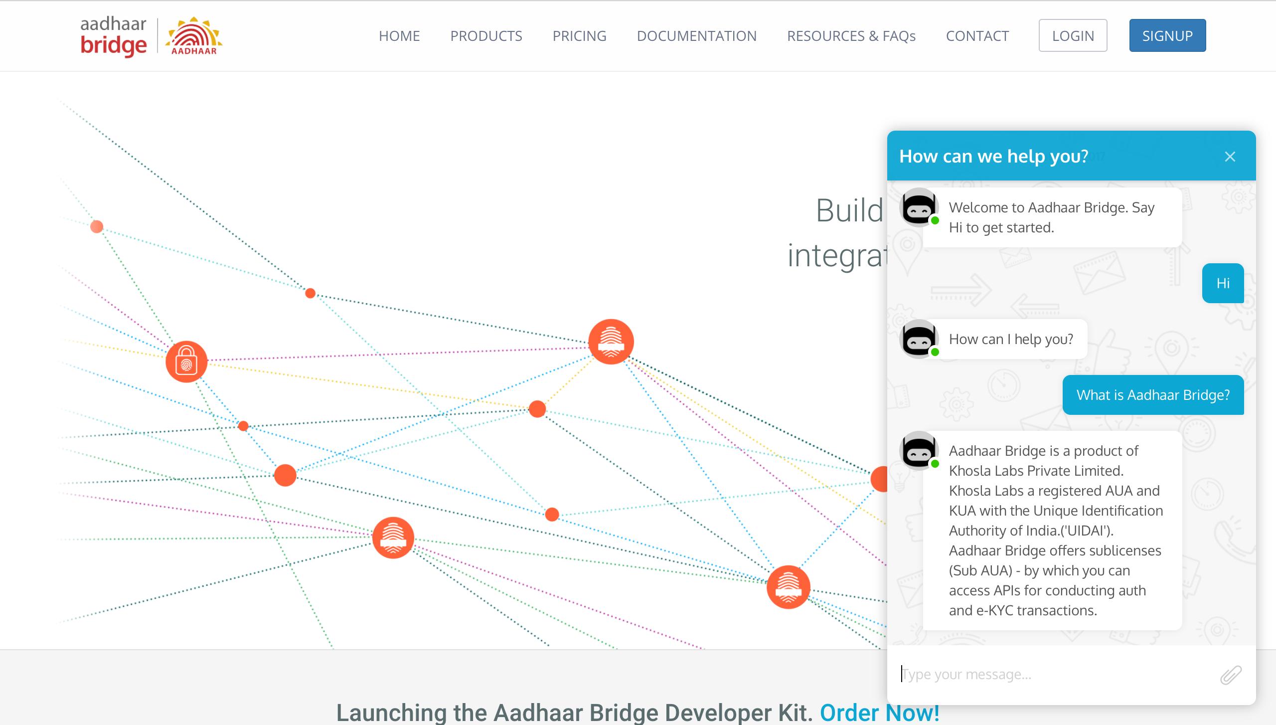 Verloop Demo - Web widget deployment image