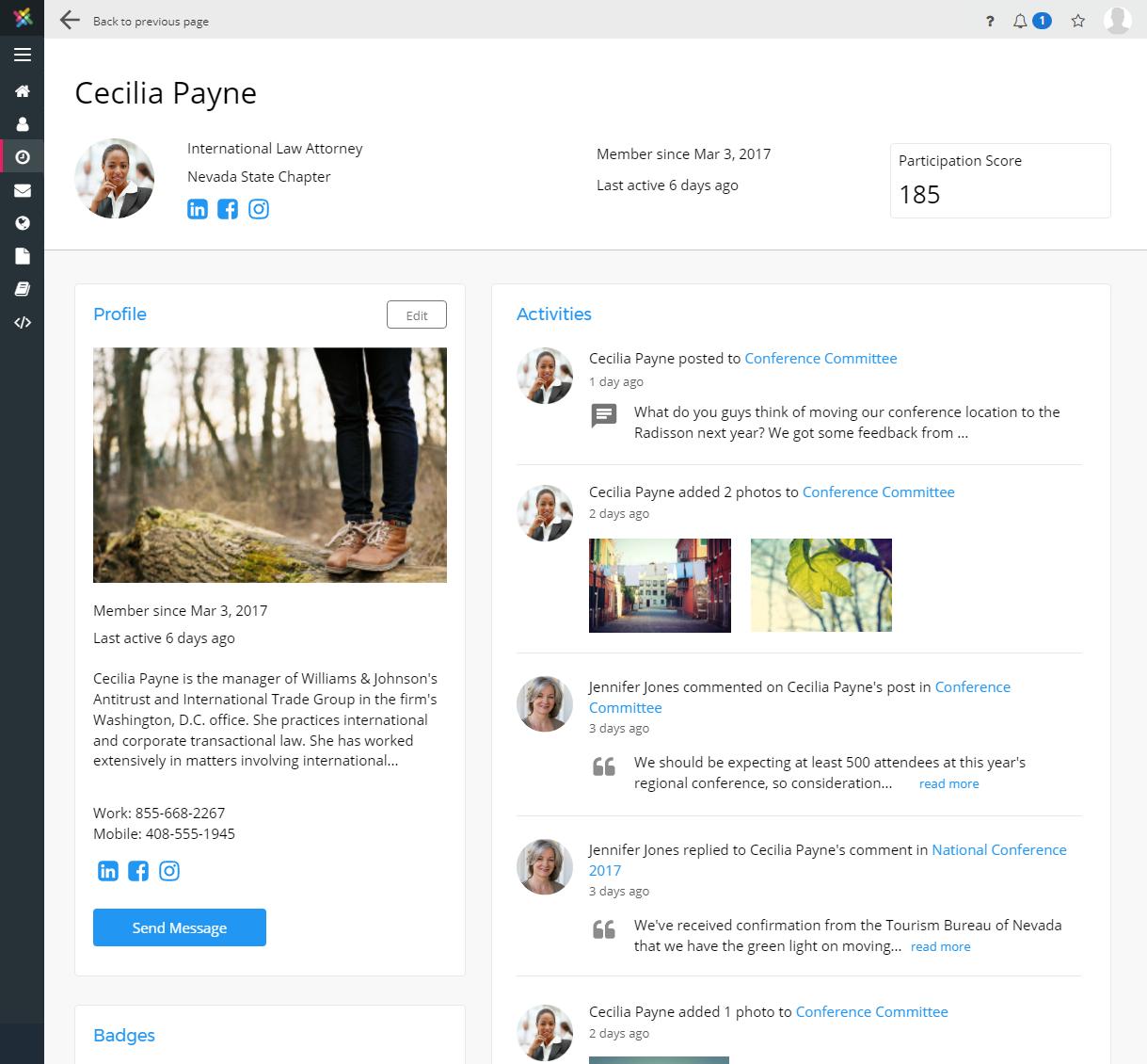 MemberNova Demo - Member Profile