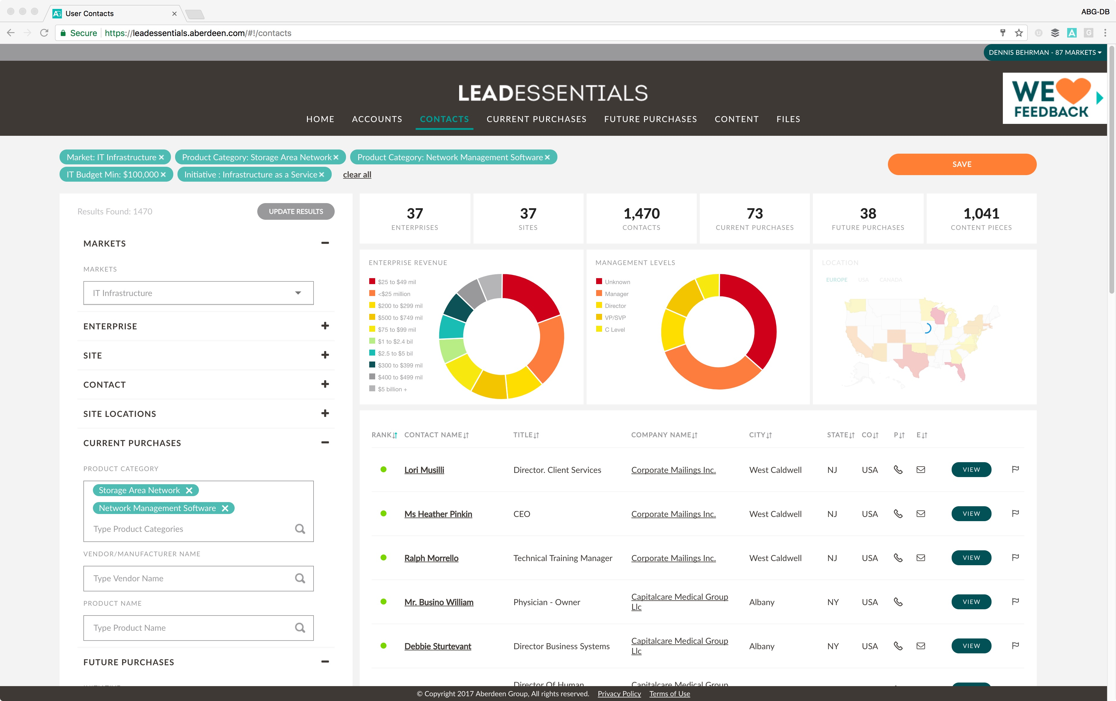 Lead Essentials Demo - Lead Essentials | Targeted, filtered, and exportable lead list