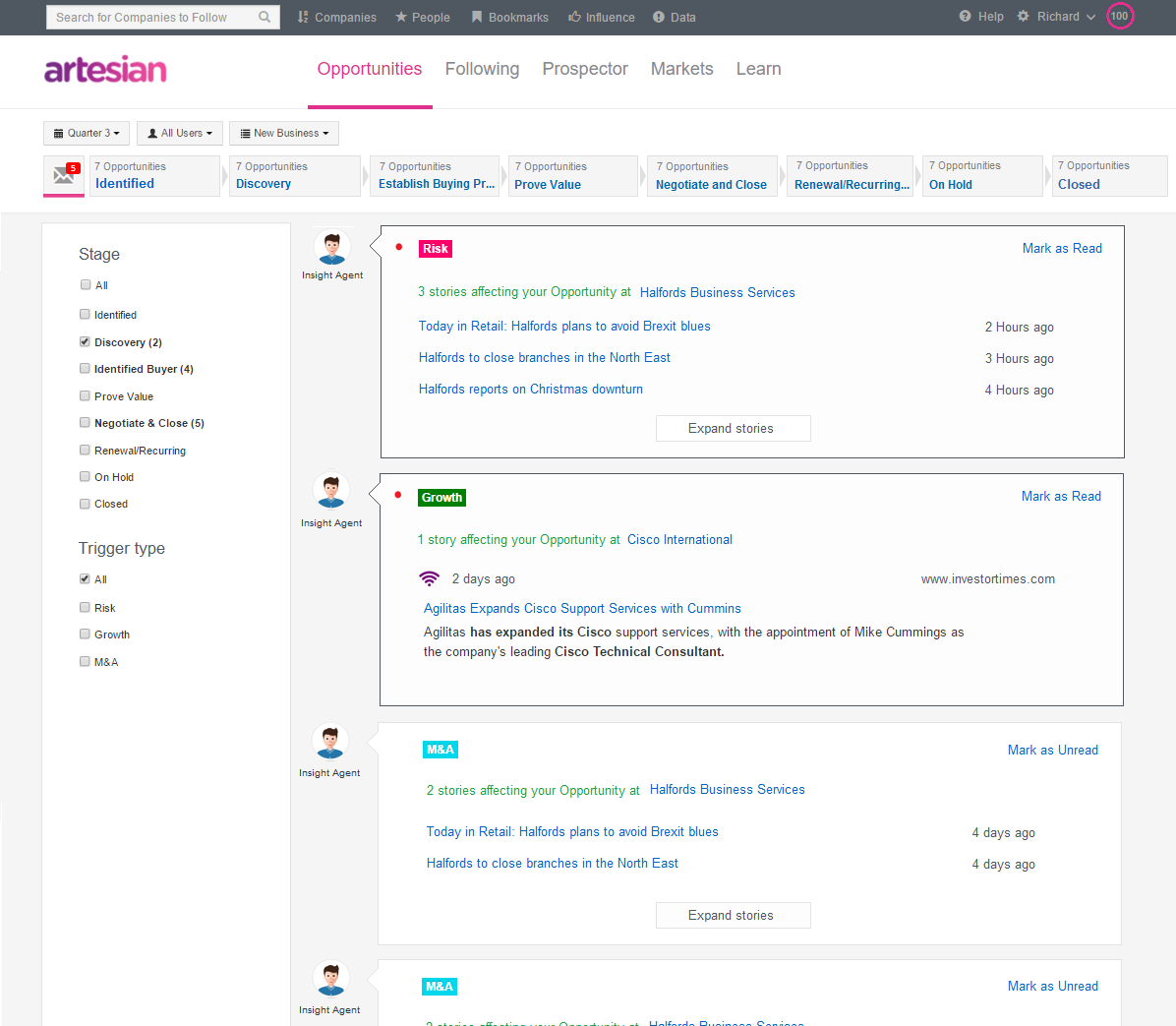 Artesian Demo - Manage your pipeline with total visibility
