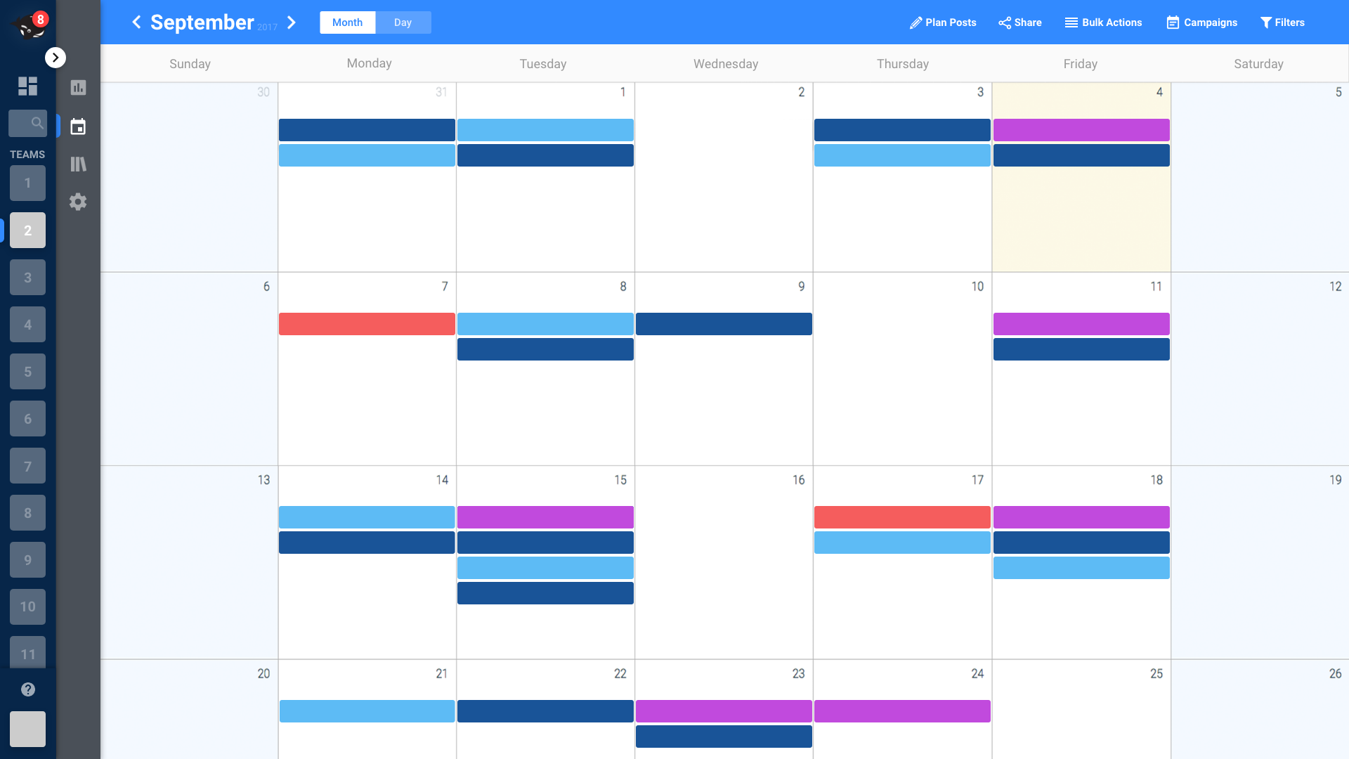HeyOrca Demo - Social Media Calender