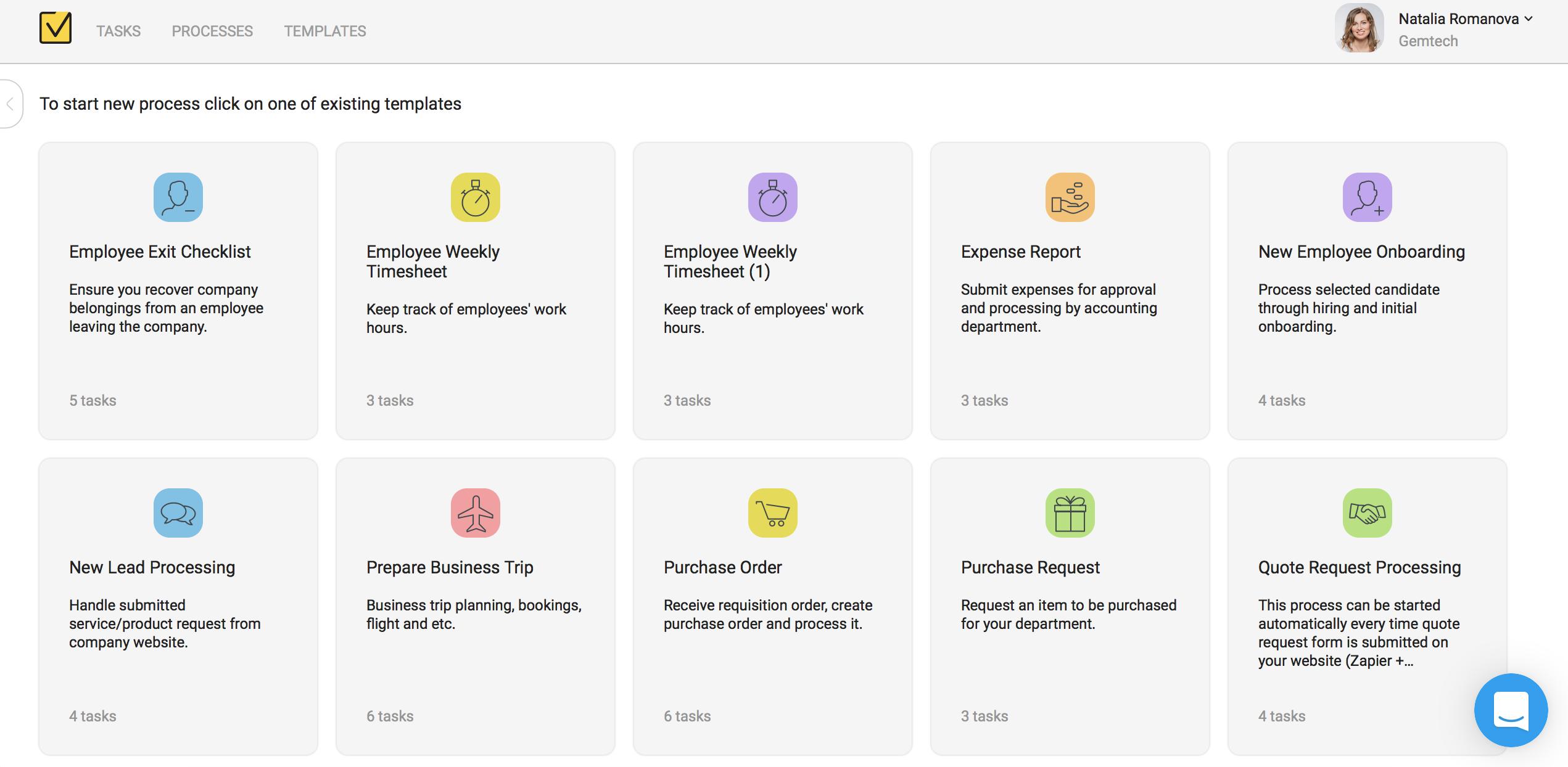 Metatask Demo - Company portal