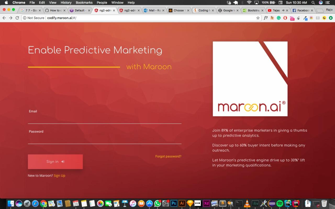 Maroon.ai Demo - Maroon predictive login