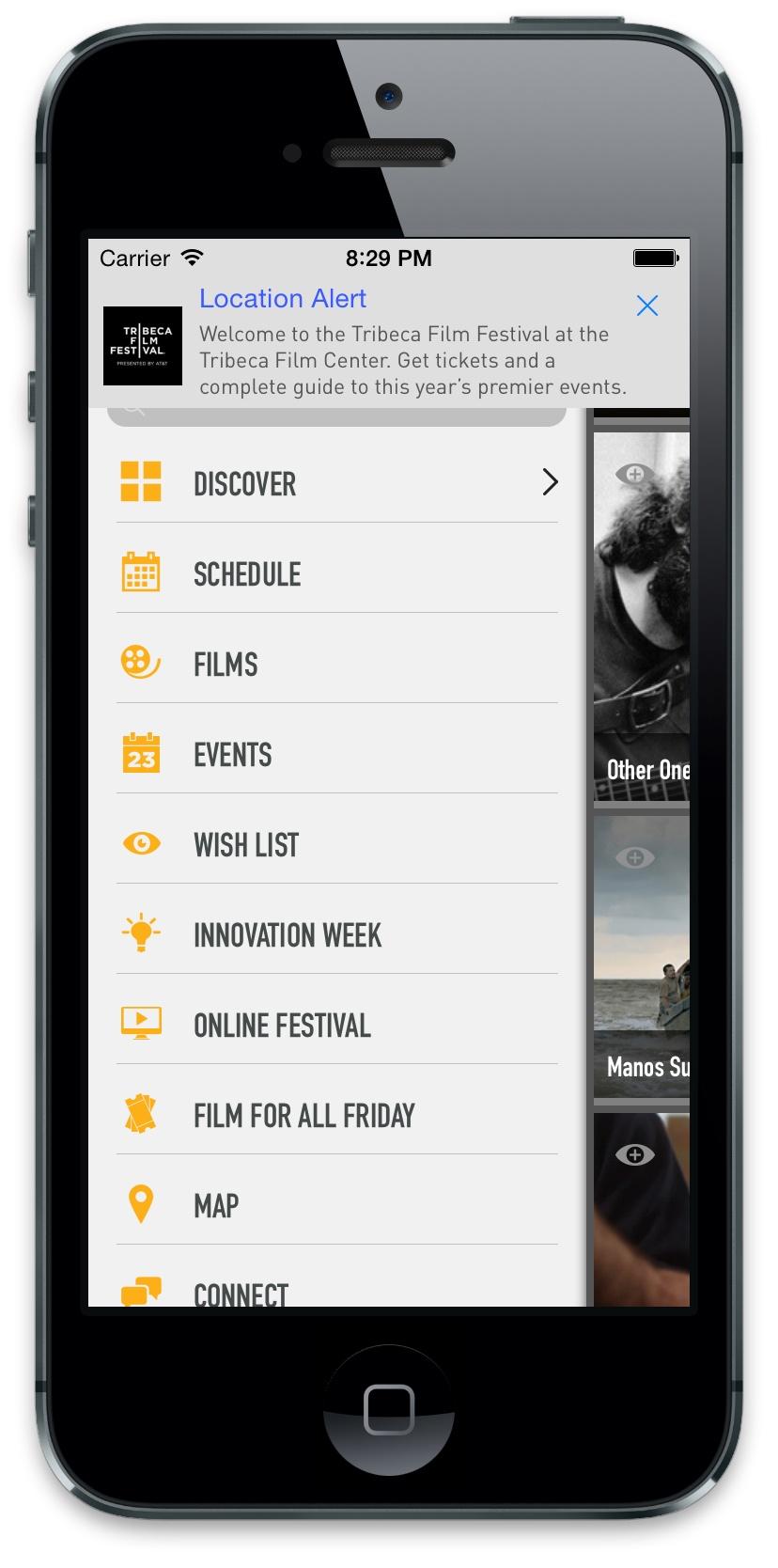 Eventbase Demo - Tribeca Film Festival - Official Mobile Event Guide
