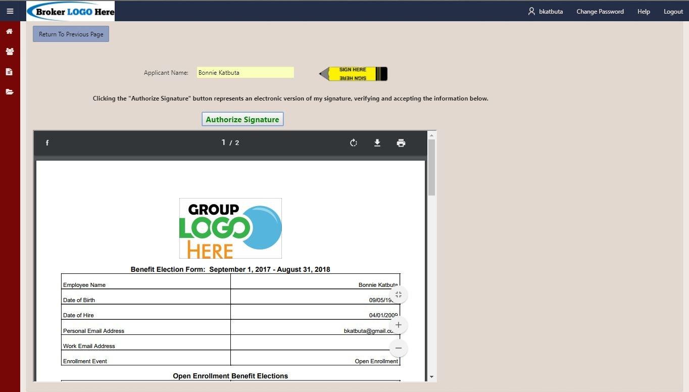 eHealthApp Demo - Signed PDF - True Digital Signatures