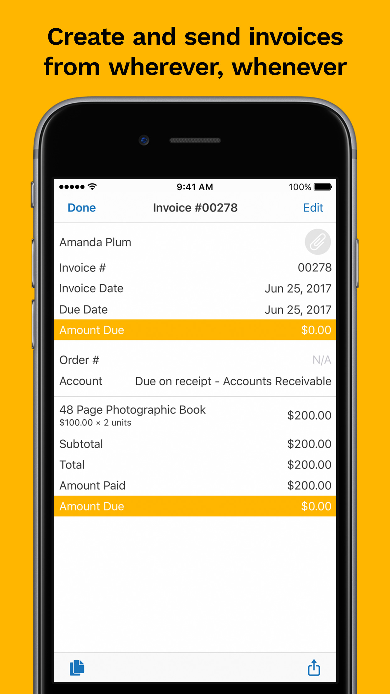 Kashoo Demo - Create Invoices (iPhone app)