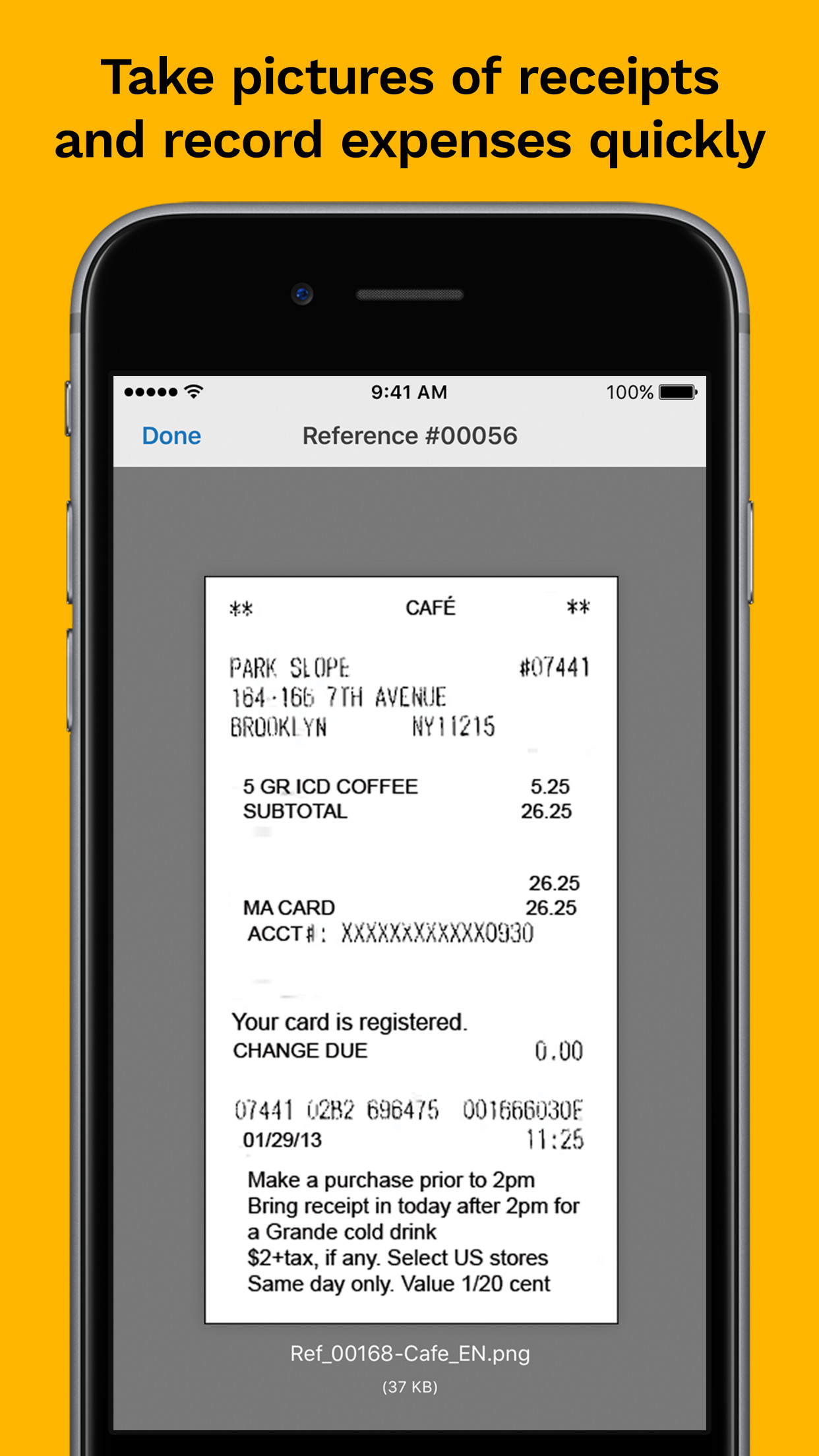 Kashoo Demo - Receipt Saving (iPhone app)