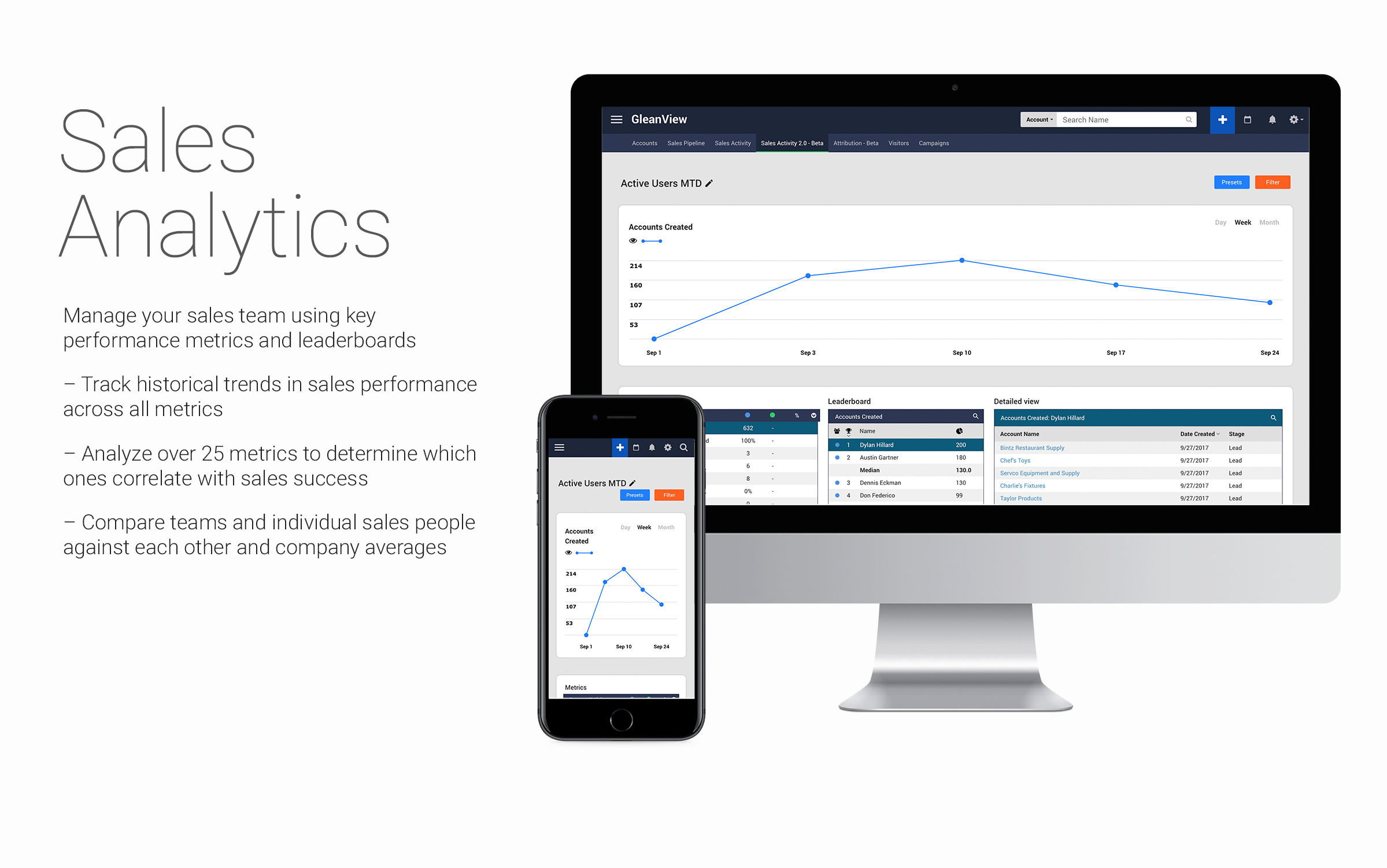 GleanView Demo - Sales Analytics