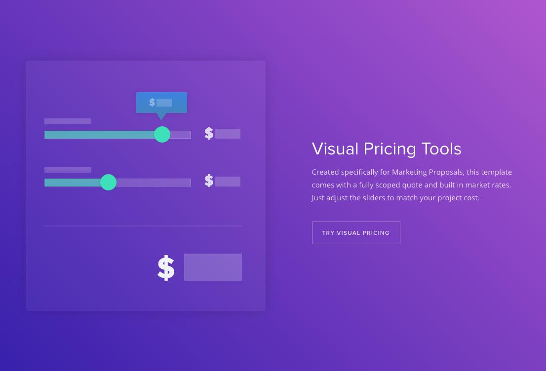 Qwilr Demo - Visual Pricing Tools