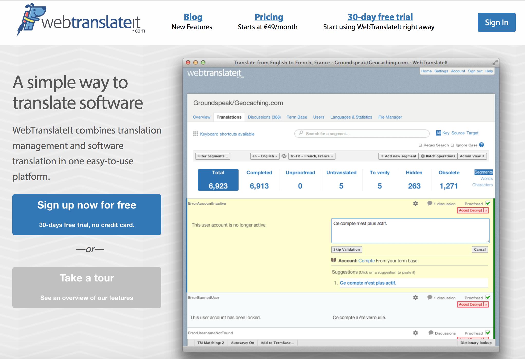 webtranslateit.com Demo - WebTranslateIt.com Homepage