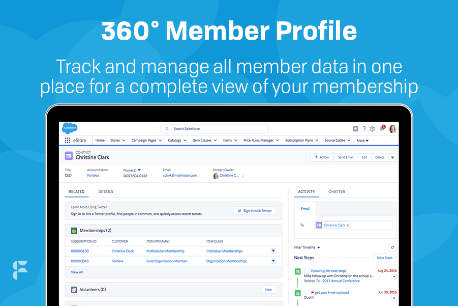 Fonteva for Associations Demo - 360 Member Profile