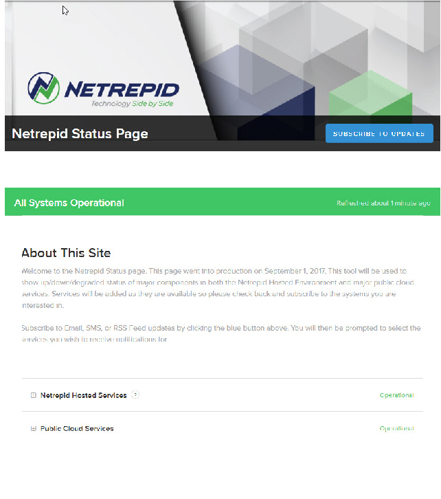Netrepid Demo - Netrepid Status Portal