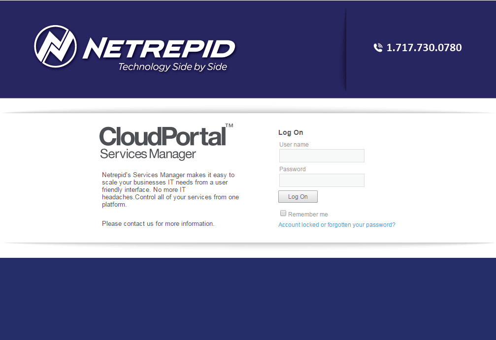 Netrepid Demo - Netrepid Hosted Services Manager