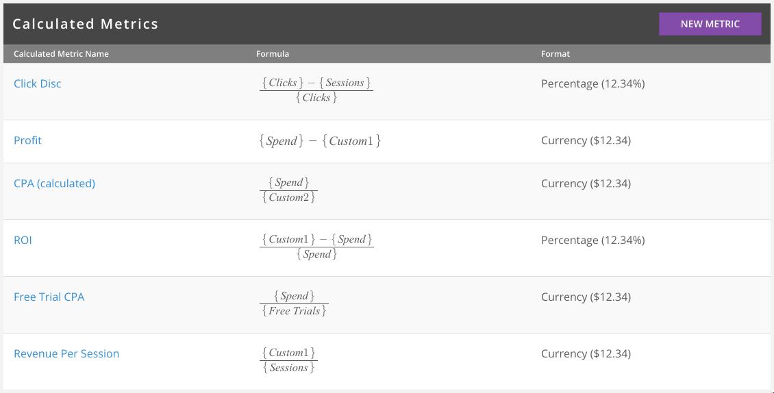 brax.io Demo - Create Calculated Metrics