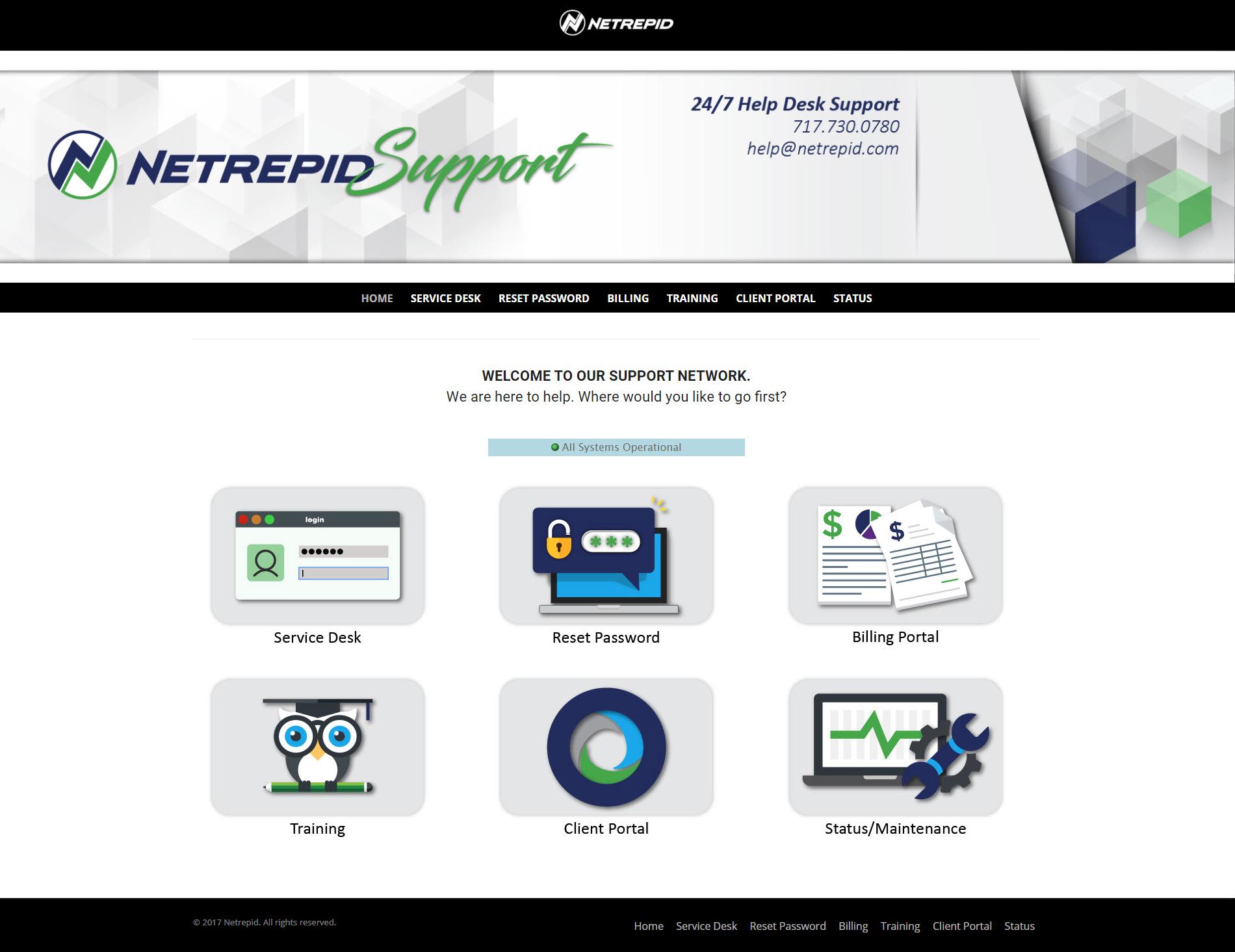 Netrepid Demo - Netrepid Client Support Portal