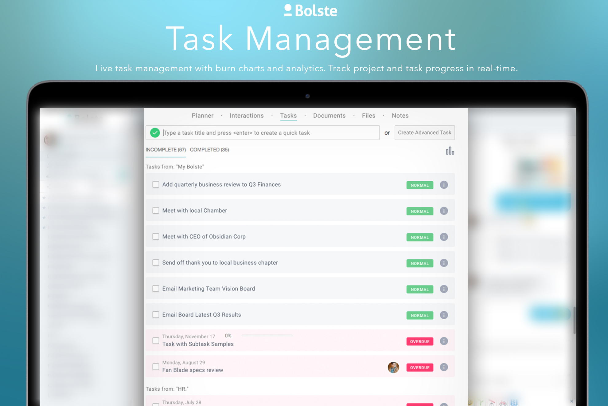 Bolste Demo - Task Management