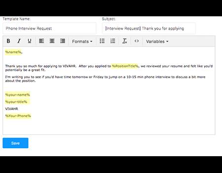 VivaHR Demo - Email Templates