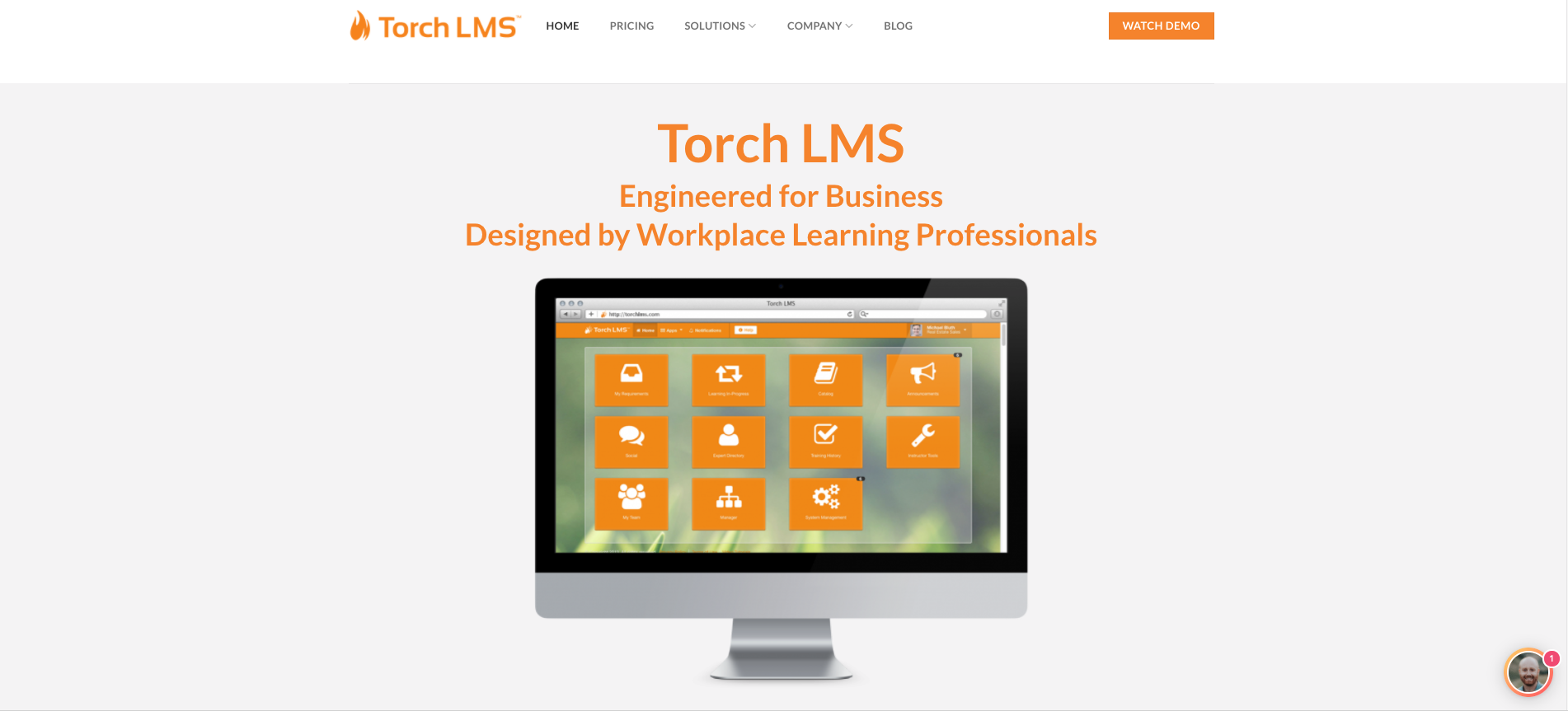 Torch LMS Demo - Homepage