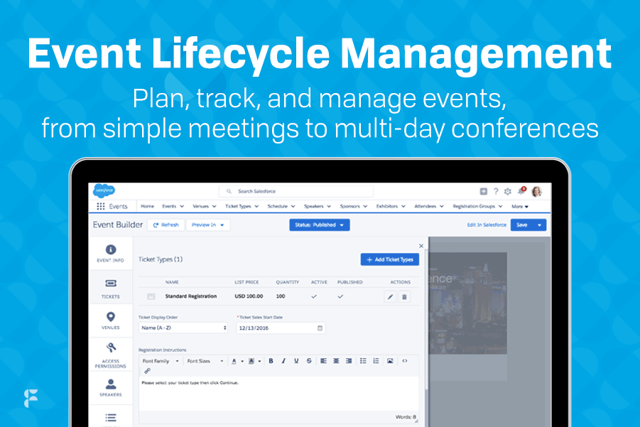 Fonteva Events Demo - Event Lifecycle Management