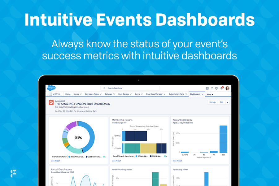 Fonteva Events Demo - Intuitive Event Dashboards