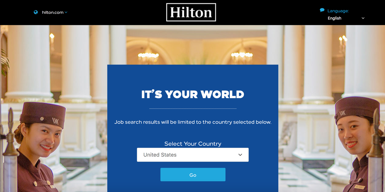 CareerBuilder Applicant Tracking Demo - Hilton+Career+Site.png