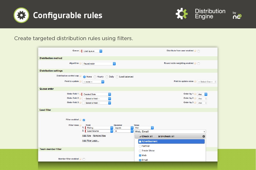 Distribution Engine Demo - Configurable Rules