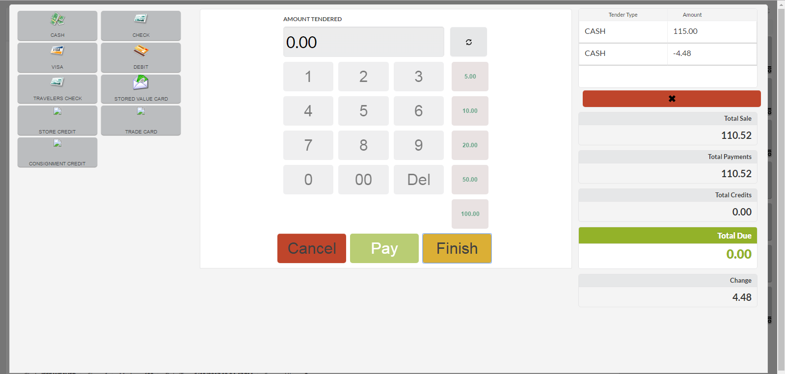 Stratus Retail Demo - Stratus Retail's Pay Screen.png