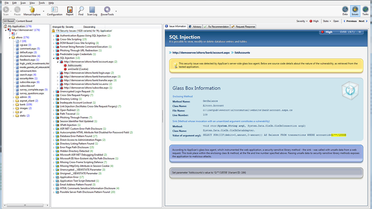 IBM Security AppScan Standard Demo -