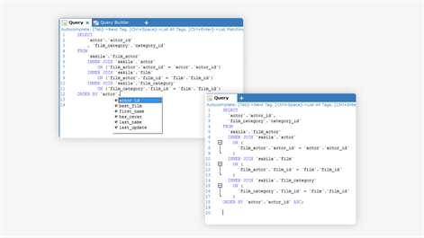 SQLyog Demo - Query Builder