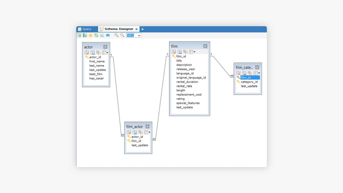SQLyog Demo - Schema Designer