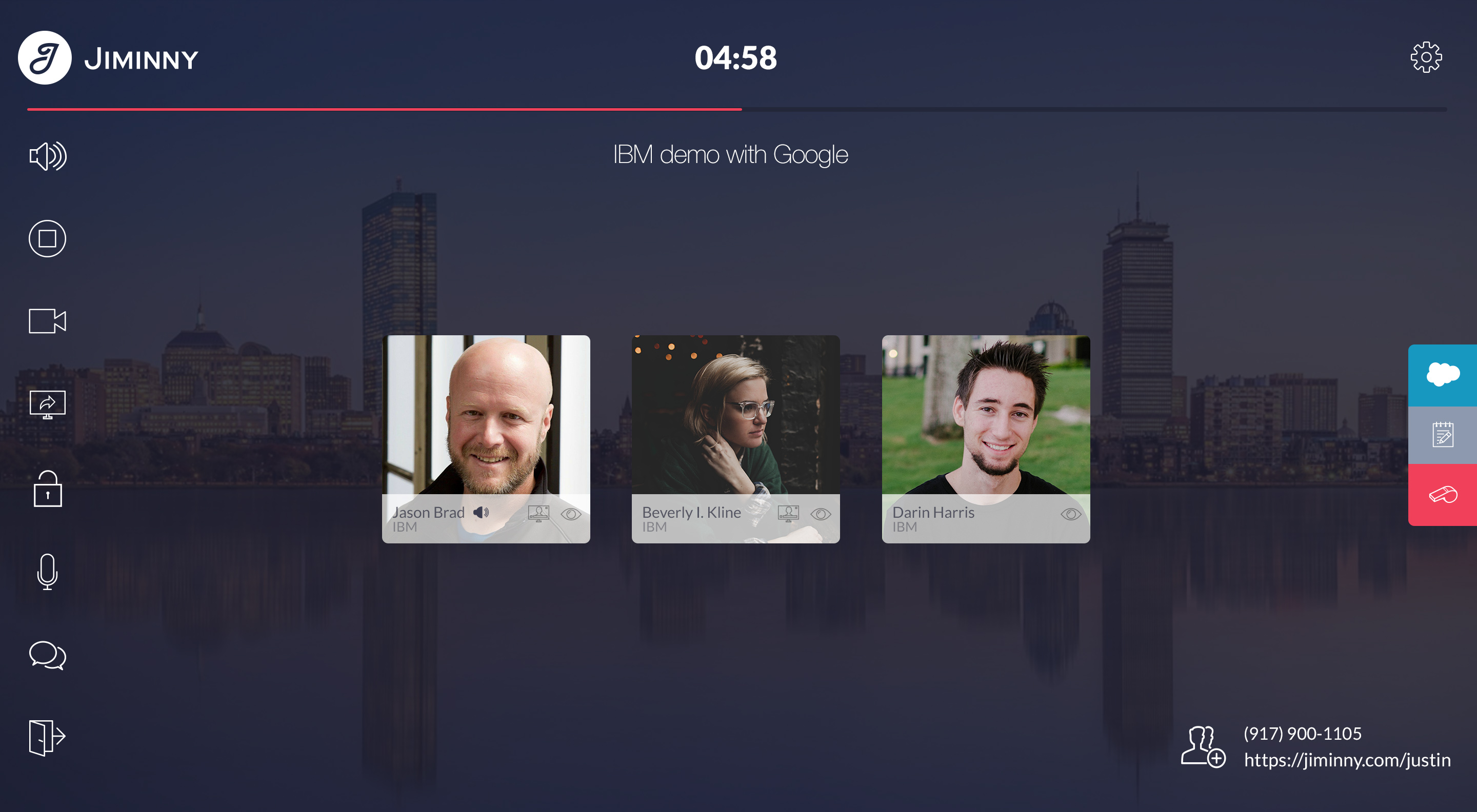 Jiminny Demo - Intelligent web conferencing and dialer created for how sales teams work