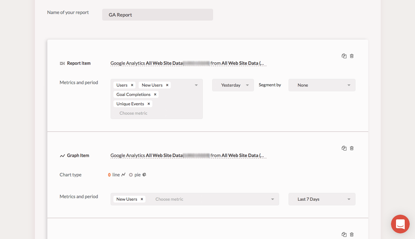 Reveal Demo - Configurable reports from Facebook and Google Analytics