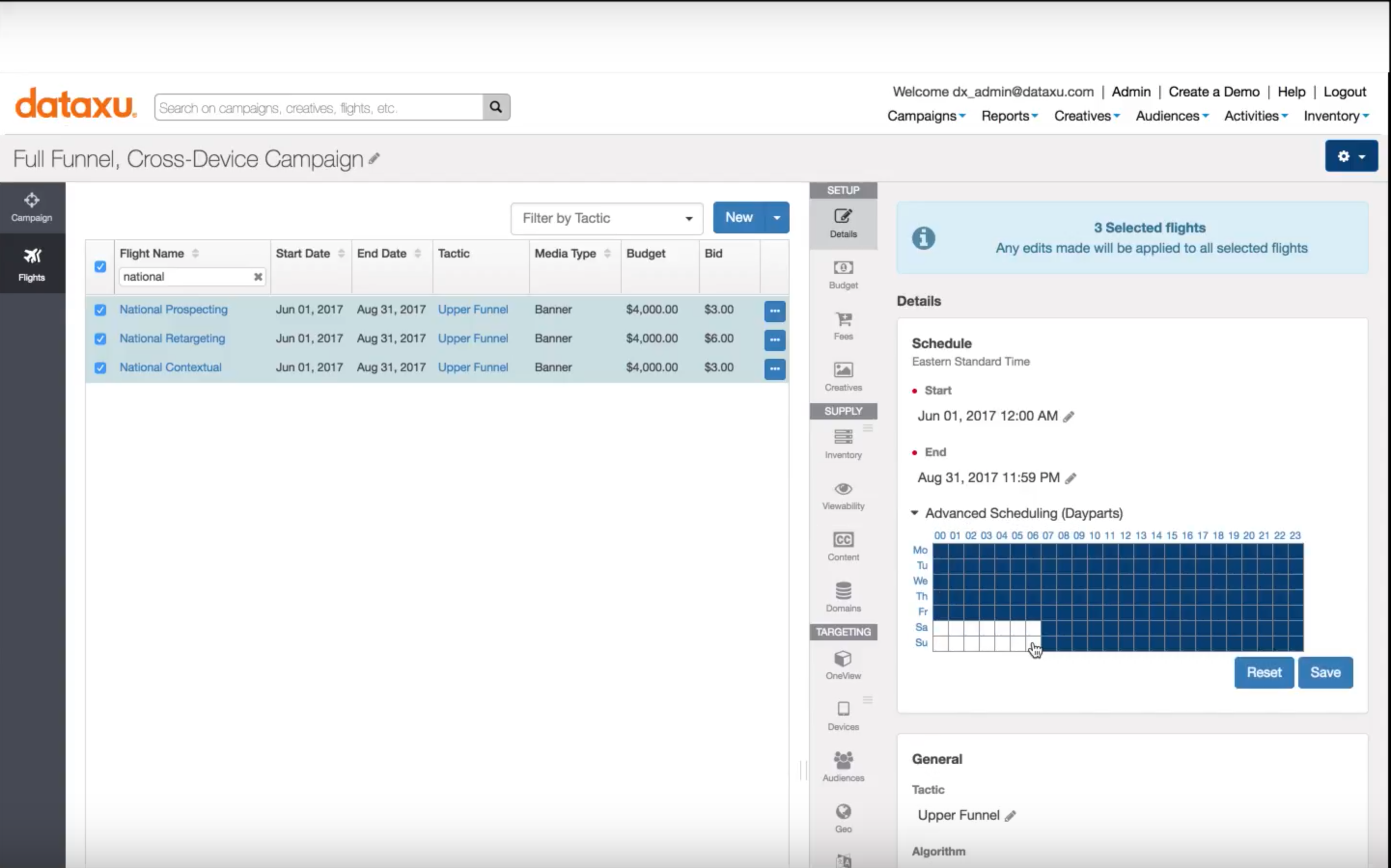 dataxu Demo - Cross-Device OneView Campaign Management in dataxu's TouchPoint DSP