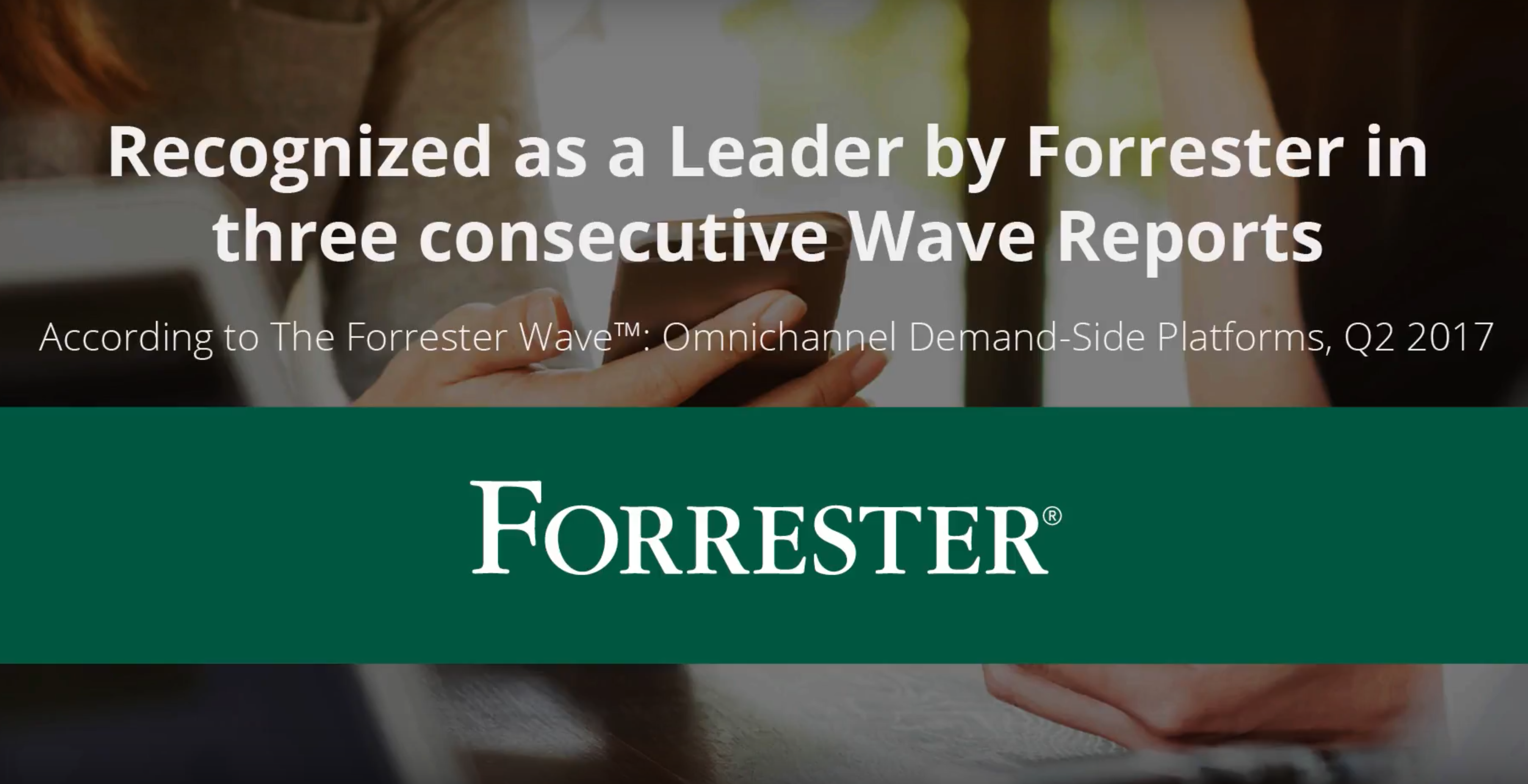dataxu Demo - dataxu's TouchPoint DSP has been recognized three times as a Leader in the Forrester Wave