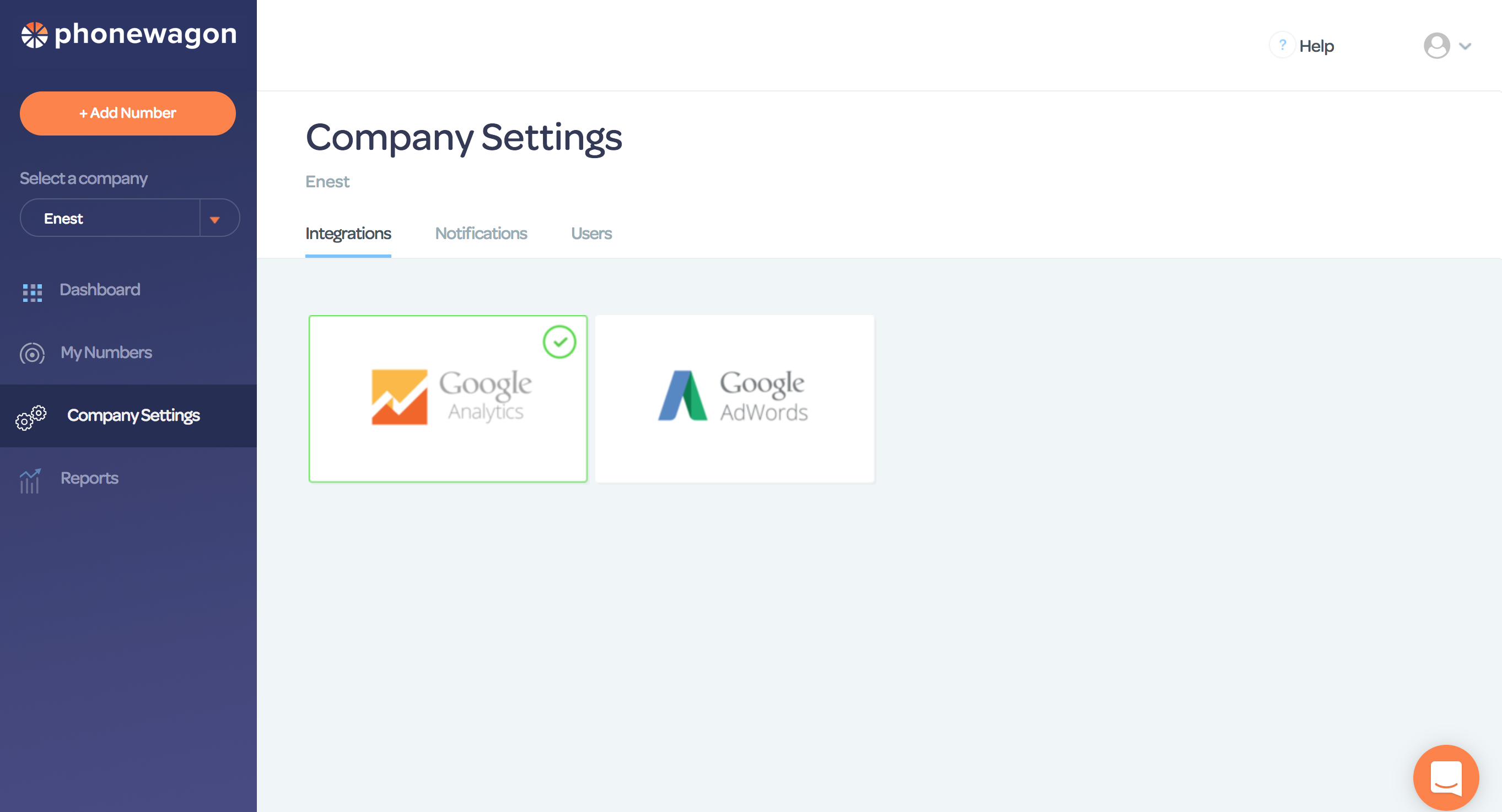 PhoneWagon Demo - Integrate with Google Analytics and AdWords