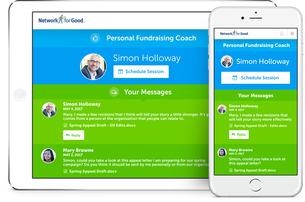 Network for Good Demo - Personal Fundraising Coach