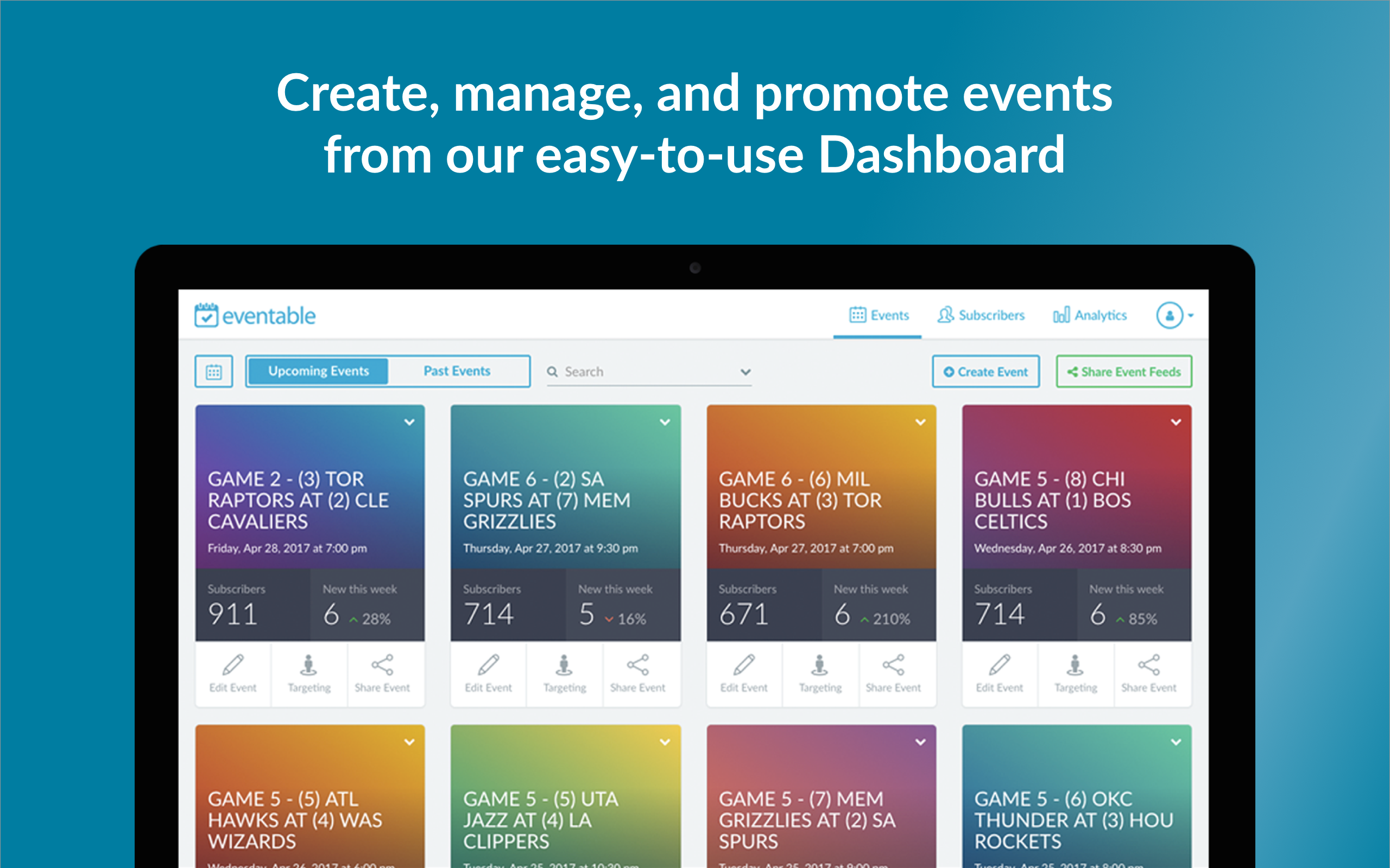 Eventable Demo - Eventable Dashboard