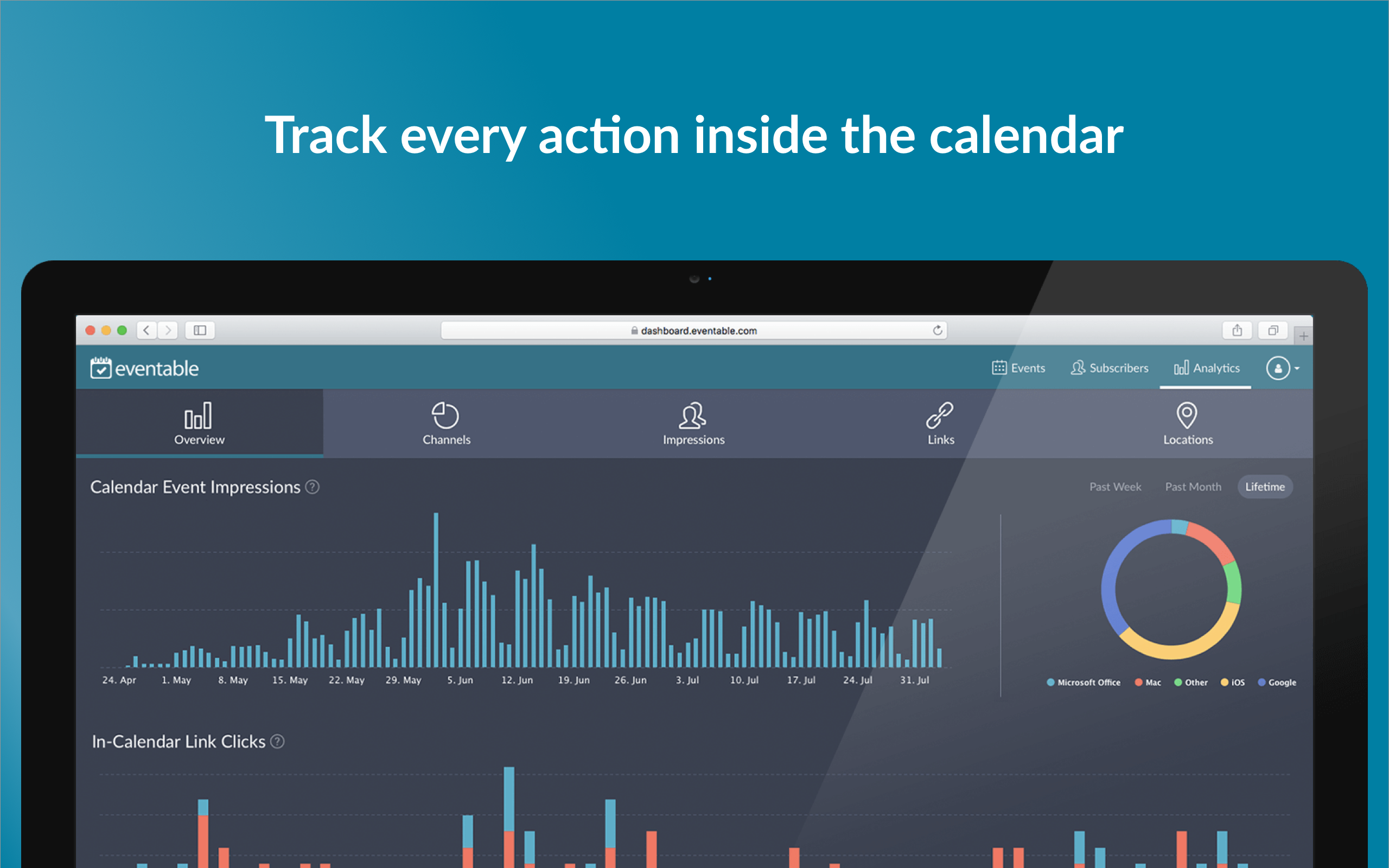 Eventable Demo - Track every action inside the calendar