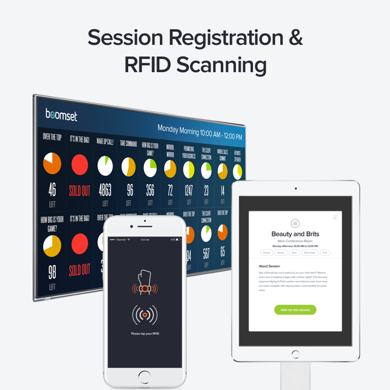 Boomset Event Software Solutions Demo - Session Registration & RFID Scanning