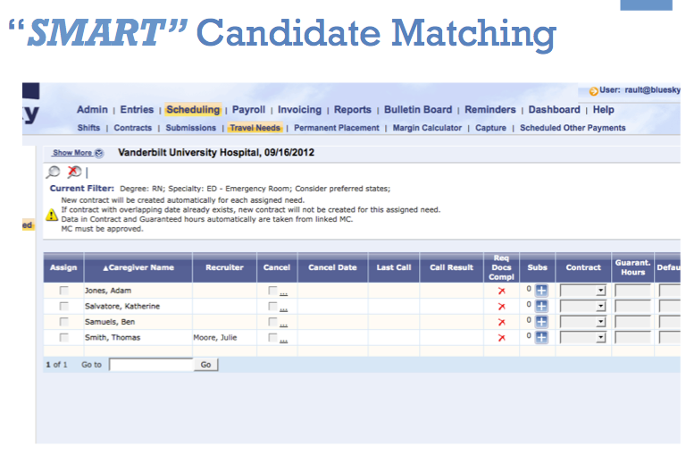 BlueSky Medical Staffing Software Demo - SMART Candidate Matching with BlueSky Medical Staffing Software