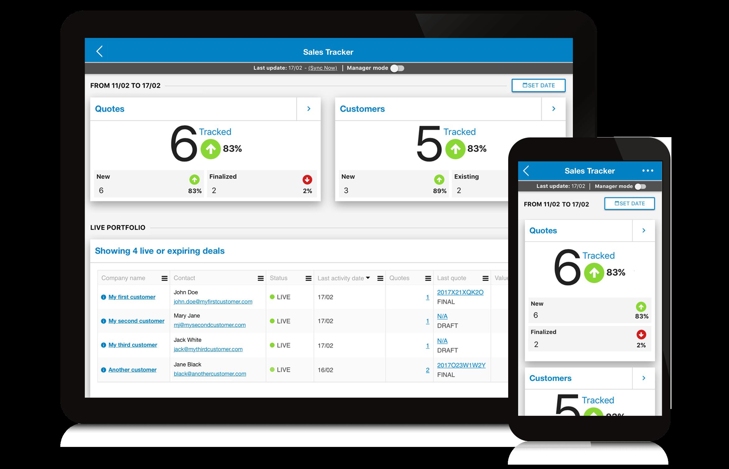 Apparound Demo - Sales Tracker