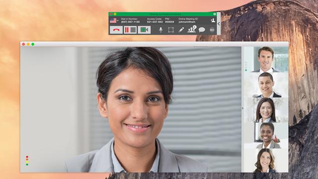 StartMeeting Demo - StartMeeting desktop app with multi-feed video
