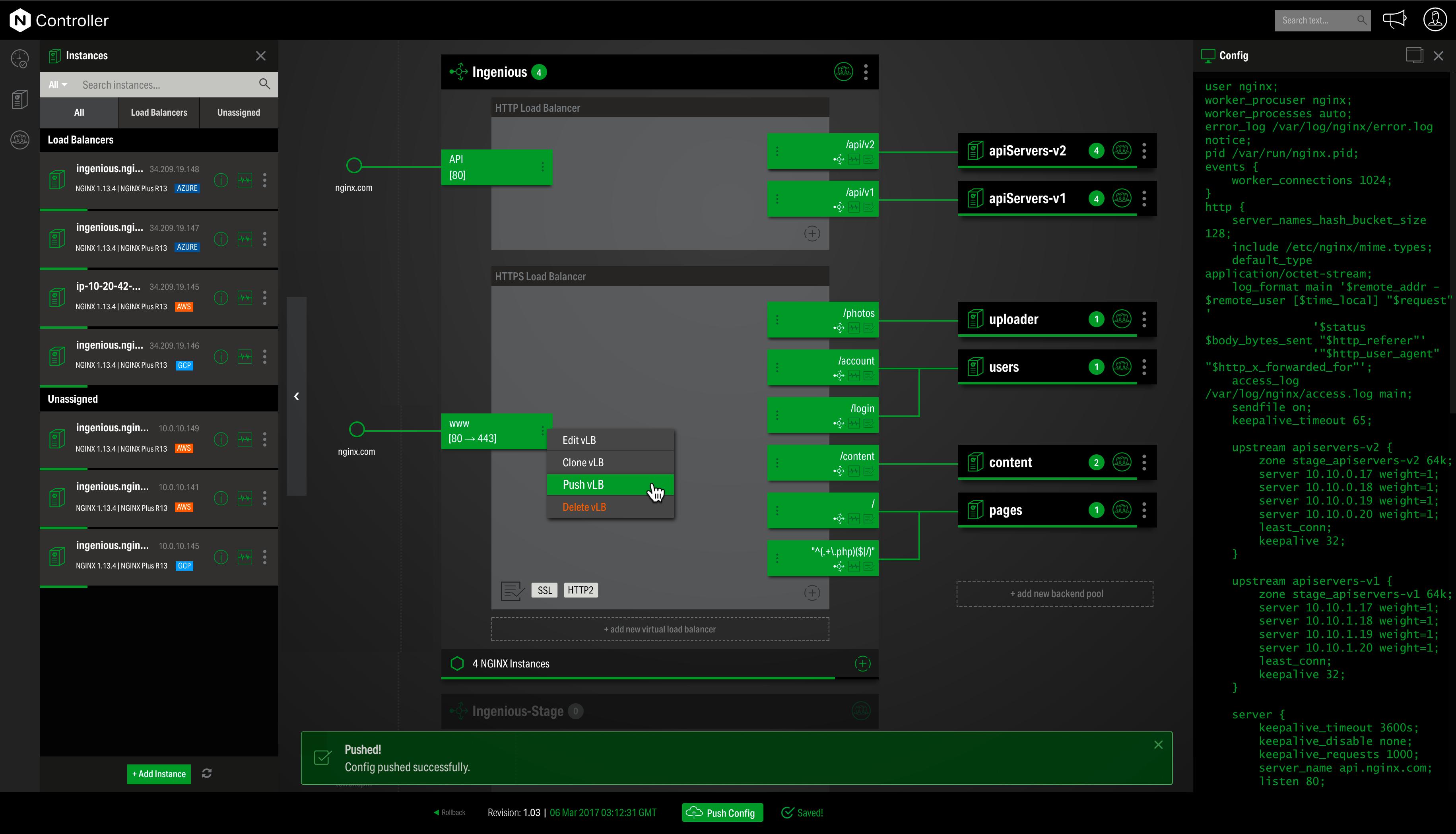 Nginx Demo - NGINX Controller (configuration)