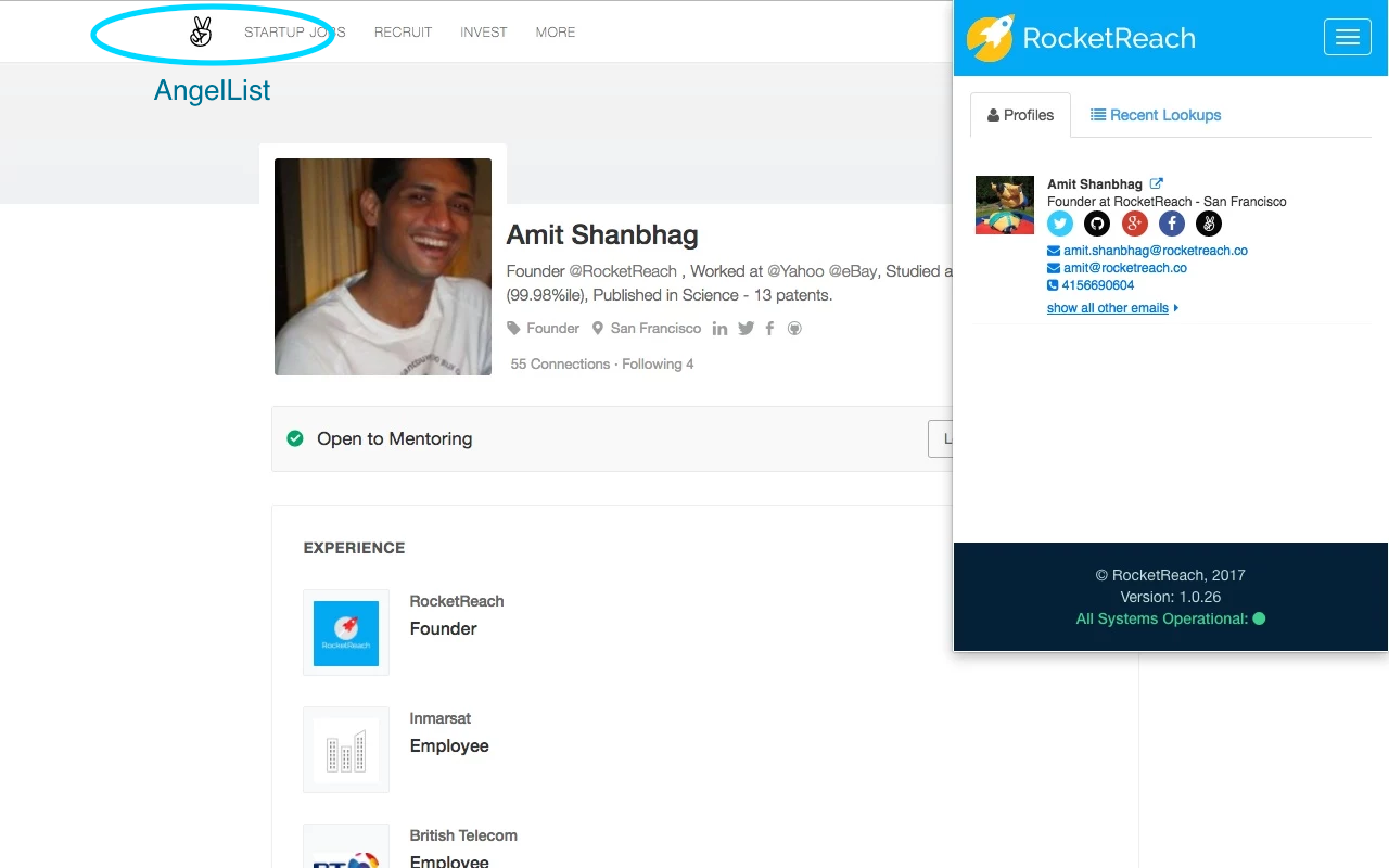 RocketReach Demo - RocketReach Plugin AngelList