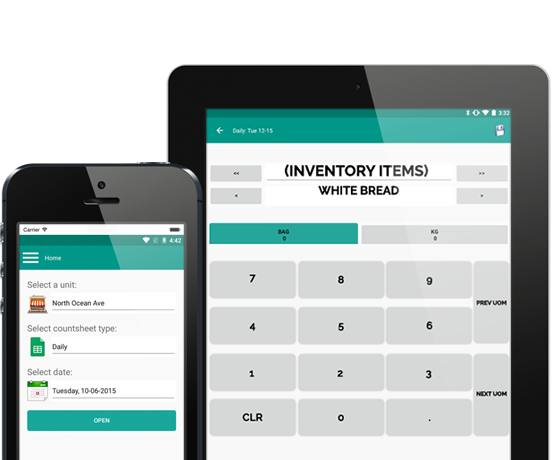 QSROnline Demo - Inventory Counting Mobile App