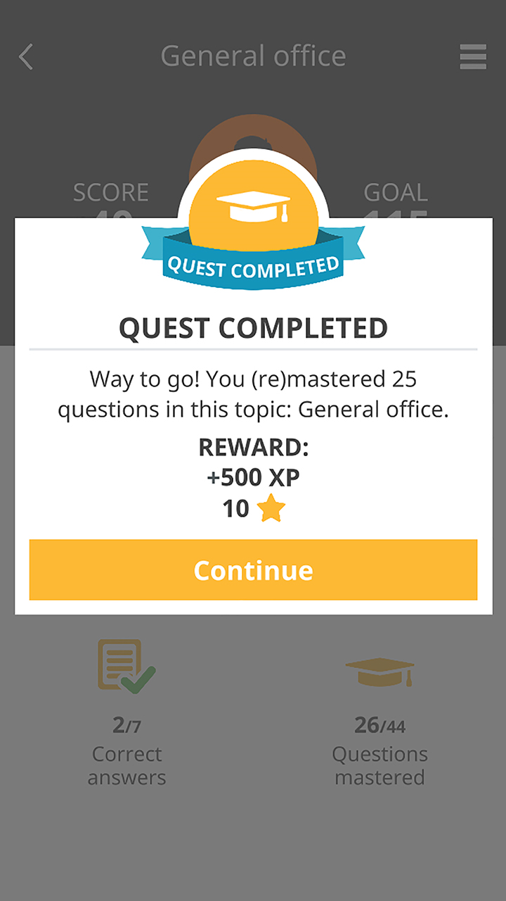 Knowingo Demo - Quest Complete