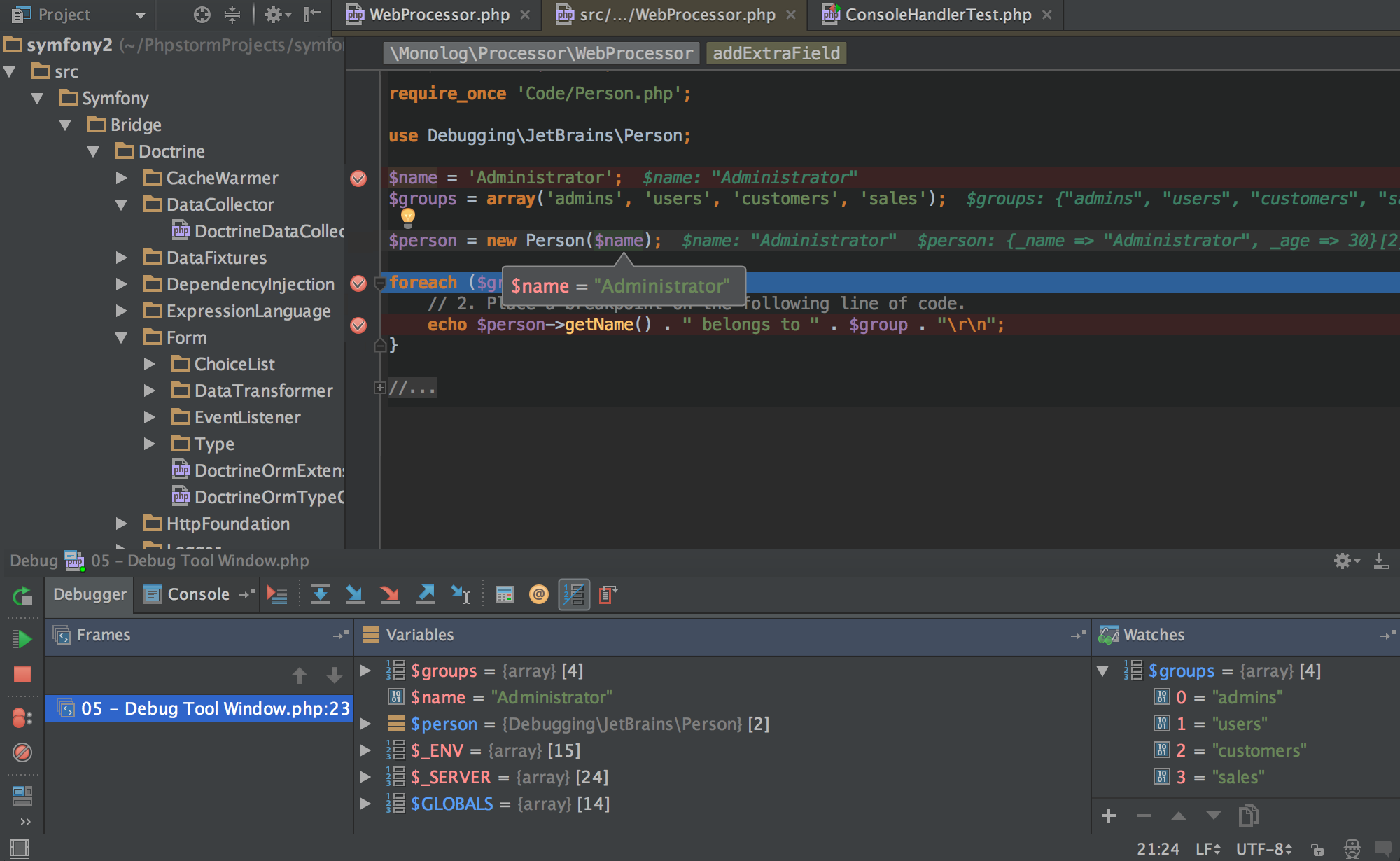 PhpStorm Demo - PhpStorm deeply understands your code.