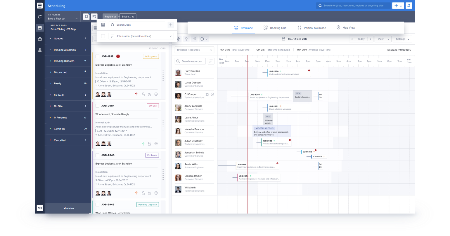 Skedulo Demo - Manage Availability and Track Job Pipeline
