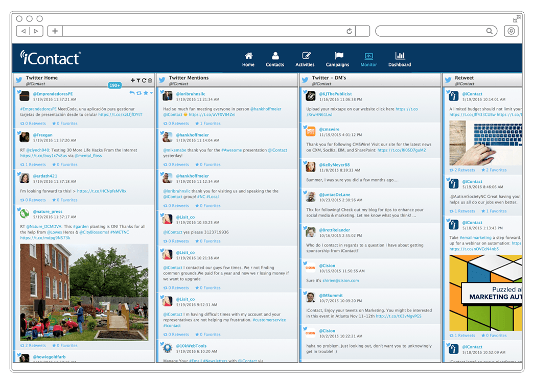 iContact Demo - Manage Social Media Engagement